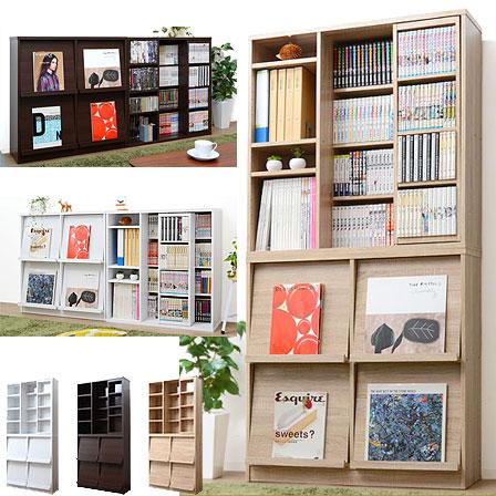 フラップチェスト&スライド書棚セット ルプラス